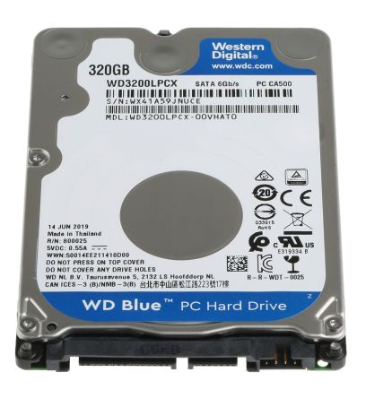 Wd3200lpcx Western Digital Scorpio Blue 320 Gb Laptop Hard Drives 2 5in Rs Components