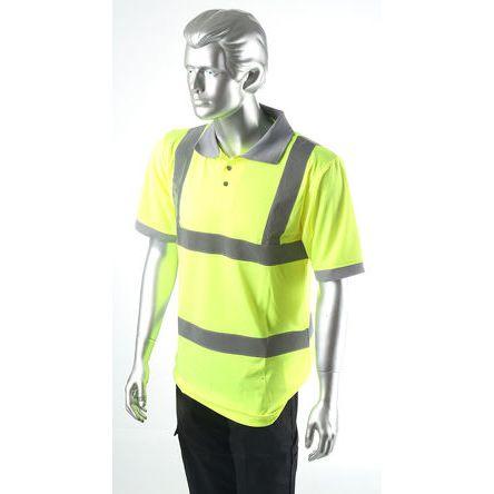 Dickies Yellow Men Hi Vis Polo Shirt, M
