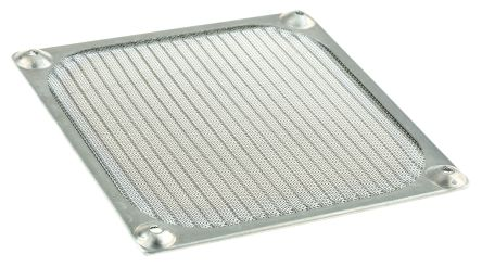 Fan Filter, Fan Mounted 119 x 119mm, for 119mm Fan Aluminium
