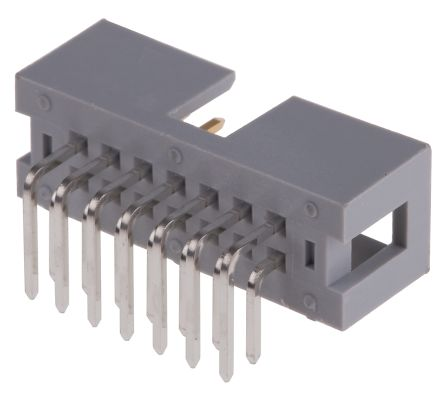 057 Series 2.54mm Pitch Right Angle IDC Connector, Male, 14 Way, 2 Row product photo