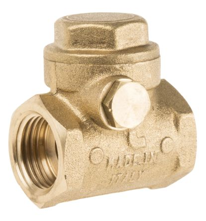 RS Pro Brass Single Non Return Valve 1/2 in BSPP   RS Components