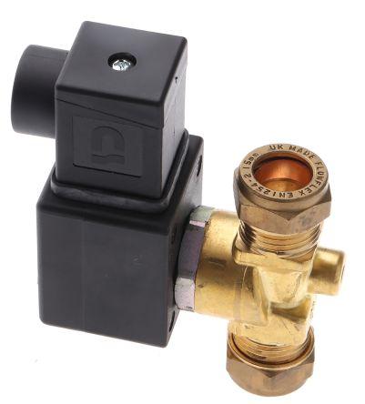 H262-602BW.12/DC | Asco Magnetventil, 12 V dc, 2 x 15mm | RS Components