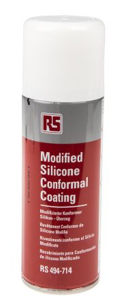 RS PRO transparent 200 ml Aerosol Conformal Coating for PCBs, -70 → +200 °C