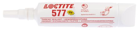 Loctite 577 Pipe & Thread Sealant Paste for Thread Sealing  250 ml Tube,  -55 → +150 °C