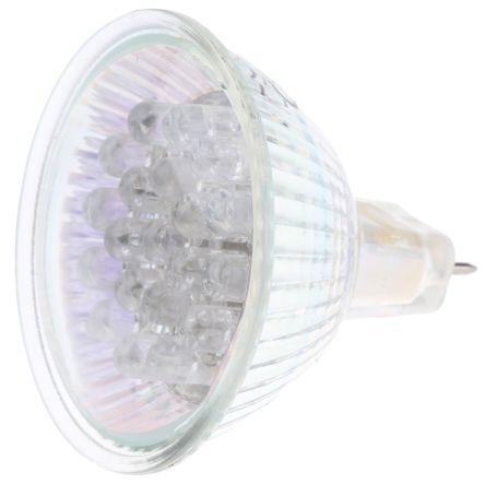 GU5.3 LED Cluster Light, Blue, 20 mA, 12 V ac, 50mm, 15° view angle