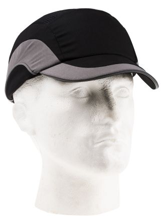 Canvas HDPE Black/Grey Standard Peak Safety Cap product photo