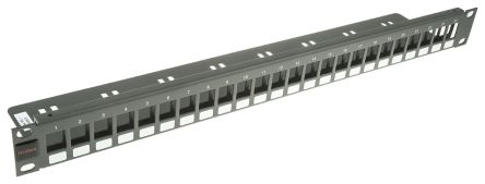 Molex Premise Networks Cat6 24 Port RJ45 Keystone Patch Panel 1U Grey