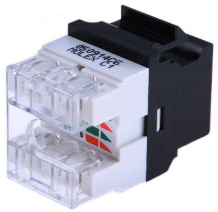 Molex Premise Networks Cat6 RJ45 8 Port Jack, UTP Shielding