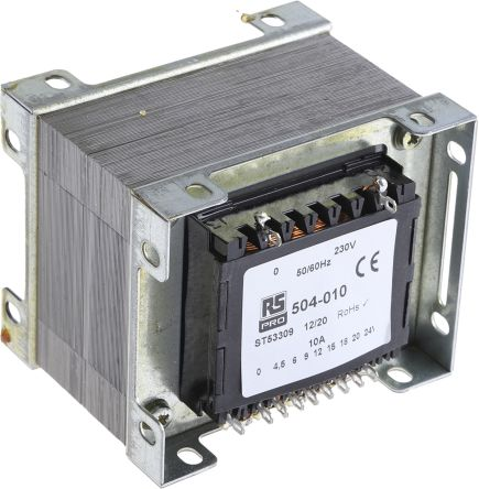 Rs Pro 240va 1 Output Chassis Mounting Transformer 4 5v