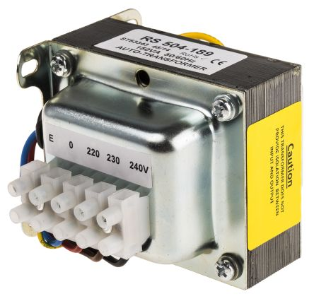 150VA Enclosed Autotransformer, 220 V ac, 230 V ac, 240 V ac Primary, 115V ac Secondary product photo