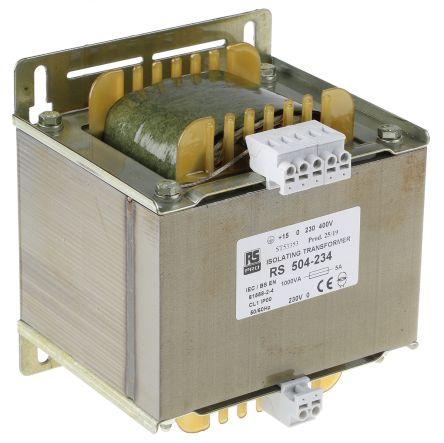 RS Pro 1kVA Isolating Transformer, 230 V ac, 245 V ac, 400 V ac, 415 V ac  Primary 1 x, 230V ac Secondary