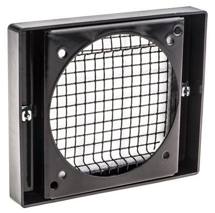 92mm Black Plastic Fan Filter /& Grill