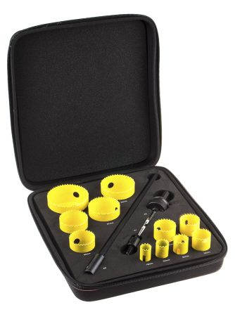 11 piece industrial HSS hole saw kit