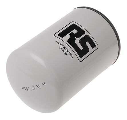 RS PRO Hydraulic Spin-On Filter Can, 10μm, 55L/min 3/4 in