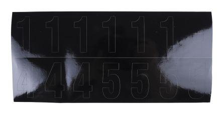 Black die cut label,50mm high numbers