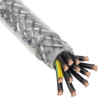 BRAIDED SY CABLE 1.5MM 2 CORE TRANSPARENT CLEAR FLEX PRICE PER METER