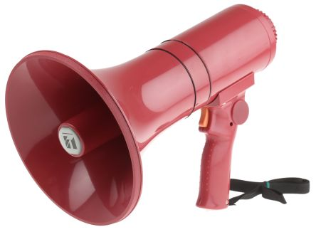 Red Hand Grip Megaphone, ER1215S, 15 W, Siren product photo