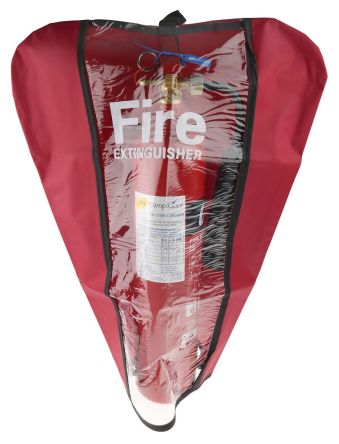 Red PVC fire extinguisher cover,24x11in