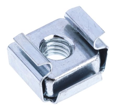 ZnPt steel narrow type caged nut,M5