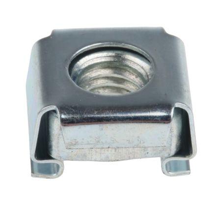 ZnPt steel narrow type caged nut,M6