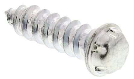 Zinc Plated Flange Button Steel Tamper Proof Security Screw, No. 6 x 12mm