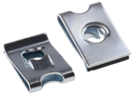 ZnPt steel self tapping captive nut,No.8