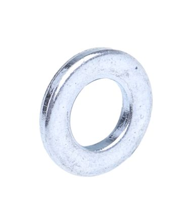 Bright Zinc Plated Steel Plain Washer, 1.60mm Thickness, M6 product photo