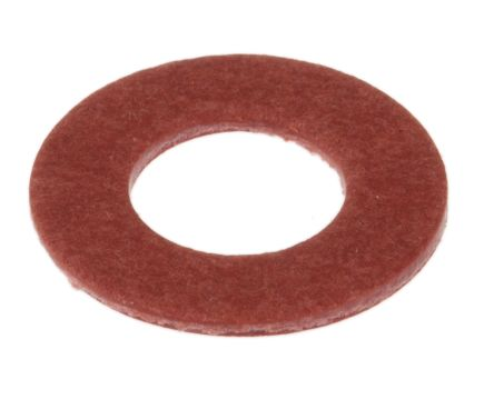 M6 Plain Vulcanised Fibre Tap Washer, 0.8mm Thickness