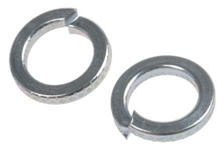ZnPt steel 1 coil spring washer,M6