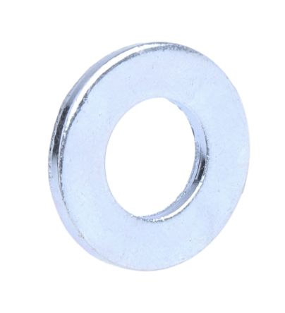 Bright Zinc Plated Steel Plain Washer, 1.60mm Thickness, M8 product photo