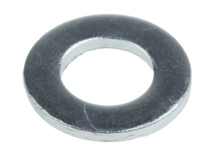 Bright Zinc Plated Steel Plain Washer, 2.00mm Thickness, M10 product photo