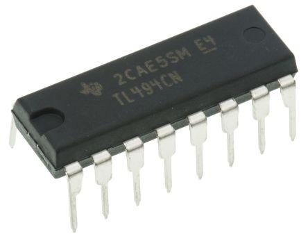 Texas Instruments TL494CN, PWM Controller 300 kHz 16-Pin, PDIP