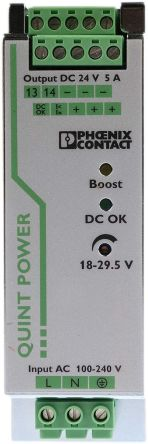 Phoenix Contact PSU - 85 → 264V ac Input Voltage, 24V dc Output Voltage, 5A Output Current