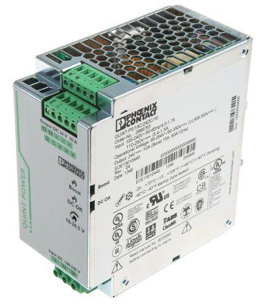 Phoenix Contact, QUINT-PS/1AC/24DC/10 PSU, 24V dc Output Voltage, 10A Output Current