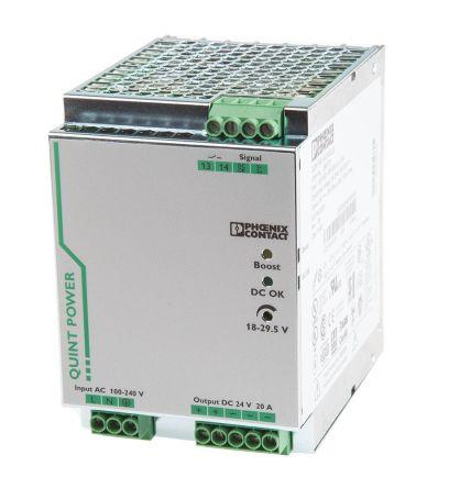 Phoenix Contact PSU - 85 → 264V ac Input Voltage, 24V dc Output Voltage, 20A Output Current