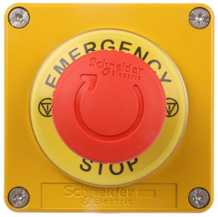 Schneider Electric Harmony, Red, Twist to Reset 40mm Mushroom Head  Emergency Button