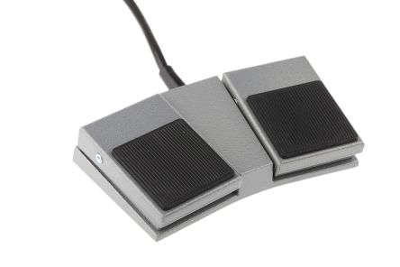 General Purpose Foot Switch, 16 SWG Mild Steel Momentary 2 X SPST N/O 3 A@ 24 V dc, 3 A@ 250 V ac 250V IPX2 product photo