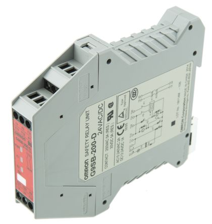 G9SB200DACDC24 | Omron 24 V ac/dc Safety Relay Dual Channel With 2 on car relay wiring, idec relay wiring, orion relay wiring, auto relay wiring,