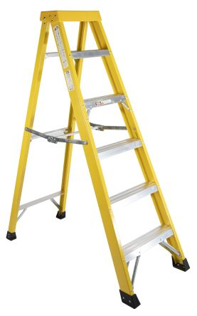 6 Step Glass Fibre Swingback Stepladder