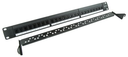 13 Patch panel Brand Rex 24 Port CAT5e UTP RJ45 Vertical Punchdown 1U Gigaplus