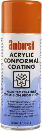 Ambersil transparent 400 ml Aerosol Conformal Coating for Electronics, PCBs, -40 → +60 °C