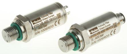 Parker Hydraulic Pressure Sensor PTDVB4001B1C1, Micro DIN, 0 → 5V dc, 0bar to 400bar