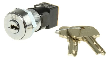 High Security Key Switch, DPST, 50 mA @ 250 V ac 2-Way, -25 -> +85°C product photo