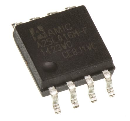 AMIC Technology A25L016M-F, SPI 16Mbit Flash Memory, 8ns; 3V, SOP, 8-Pin
