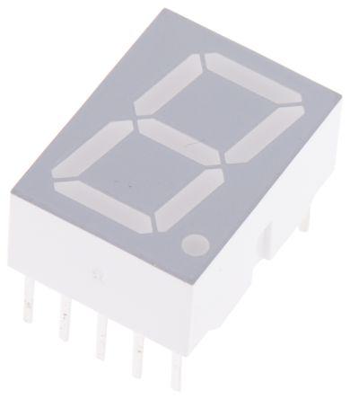 Broadcom HDSP-5553 7-Segment LED Display, CC Red 1.48 mcd RH DP 14.2mm