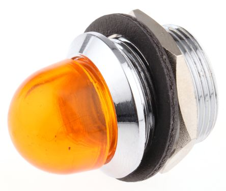 Red Domed Lens LED Panel Mount Indicator Lens /& Lampholder Combination Diamete