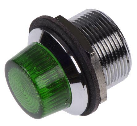 Panel Mount Indicator Lens & Lampholder Combination, Green