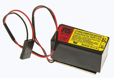 123A/C With Wire Lead Terminal, 3.7V Lithium Thionyl Chloride Computer Backup Power Battery product photo