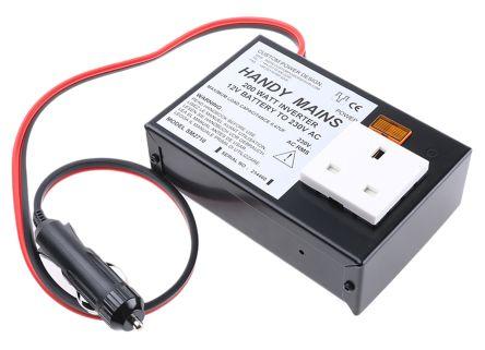200W DC-AC Car Power Inverter, 11 → 15V dc / 230V ac