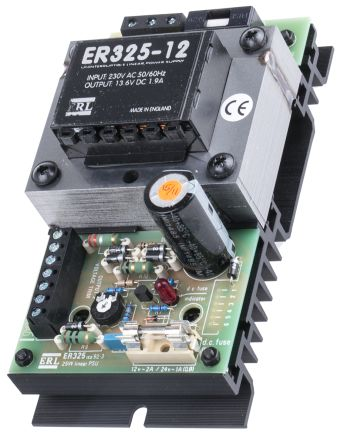 Embedded Linear Power Supply Open Frame, 220 → 240V ac Input, 13 6V dc  Output, 1 9A